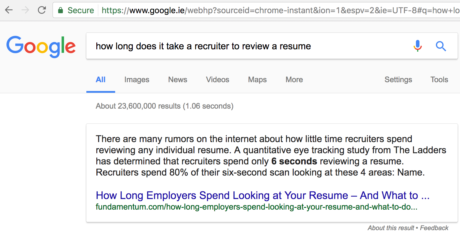 how long does it take a developer to read a recruiter s email
